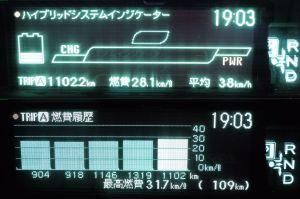 燃料満タンで1100km以上走行