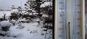 この冬一番の冷え込み