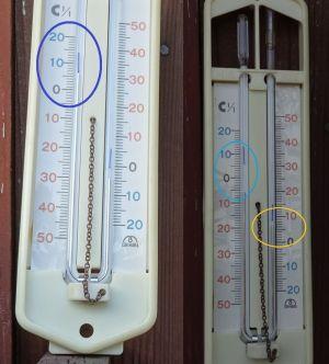 U字型温度計